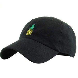 Pineapple Dad Hat Black